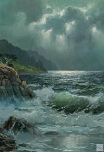 Alexander Dzigurski (1911-1995) Seascape Painting