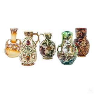 Floral Art Pottery Antique Ceramic Vases, Pitchers