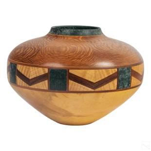 Jacques Vesery (b.1960) Segmented Wooden Bowl Vase