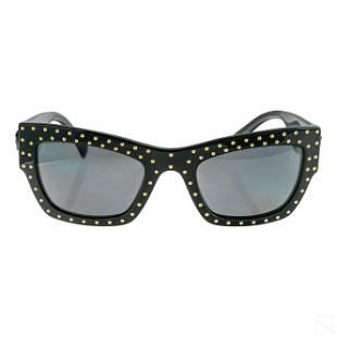 Gianni Versace 4358 Black Gold Studded Sunglasses
