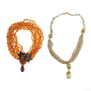 Jose & Maria Barrera Designer Costume Necklace LOT