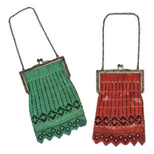 Mandalian Art Deco Antique Ladies Evening Bags LOT