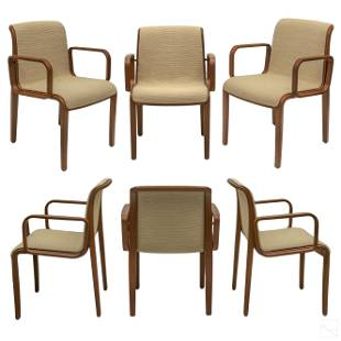 Bill Stephens for Knoll Bentwood Arm Chairs SET 6