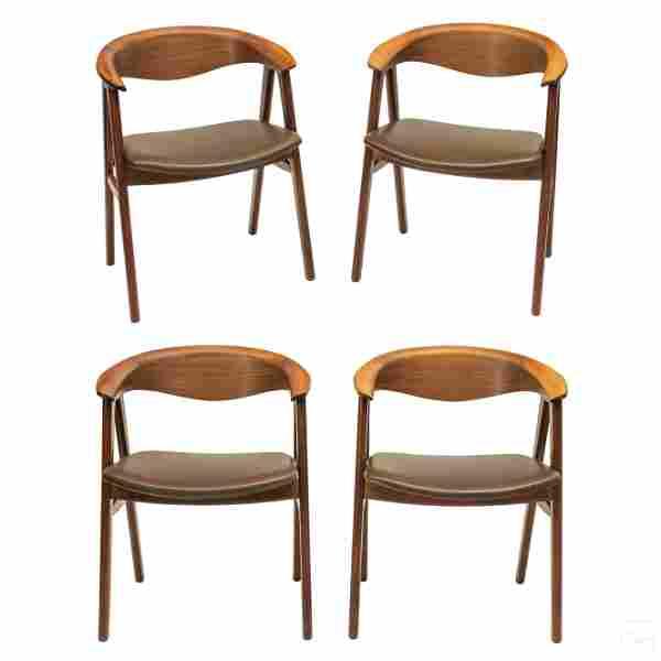 Mid Century Modern Danish Teak Arm Chairs SET of 4