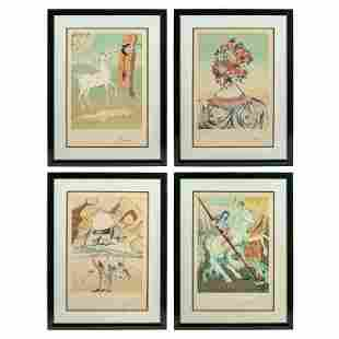 Salvador Dali 1904-1989 Retrospective Suite Lithos