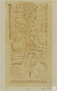 Chandra Avinash 1931-1991 Modern Abstract Etching