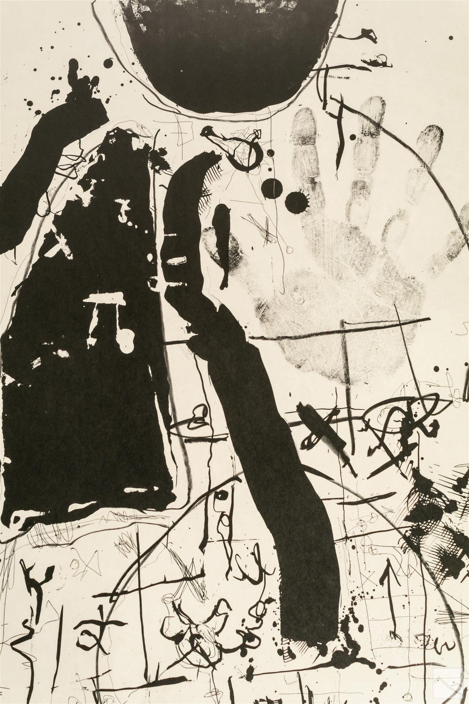 Igael Tumarkin (b.1933) Signed Abstract Lithograph