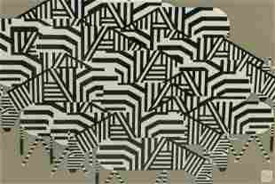Charley Harper 1922-2007 Abstract Zebras Serigraph