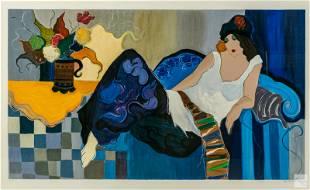 Isaac Tarkay 1935-2012 La Fiancee Modern Serigraph
