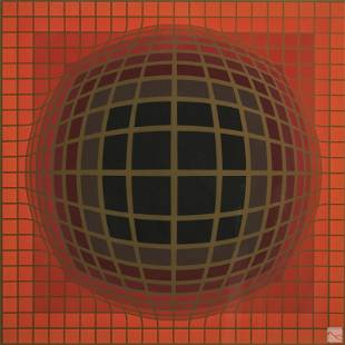Victor Vasarely 1906-1997 LE Abstract Op Art Print