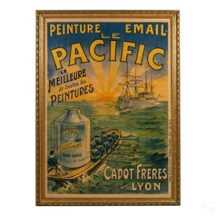 Art Deco Pacific French Paint Advertising Poster