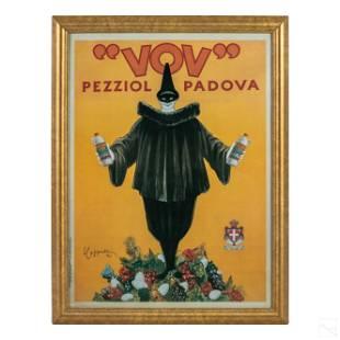 Vov Pezziol Padova French Deco Advertising Poster
