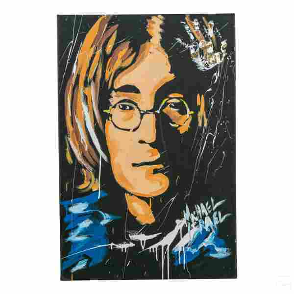 Michael Israel b1960 John Lennon Portrait Painting