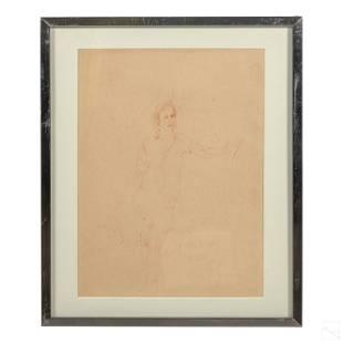 Fairfield Porter 1907-1975 Pencil Portrait Drawing