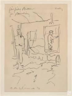 John MacWhinnie b.1945 Figural Art Pencil Drawing