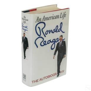 SIGNED President Ronald Reagan American Life Book