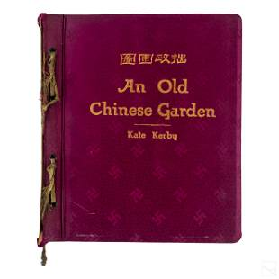 Book: Old Chinese Garden by Wen Chen Ming & Kerby