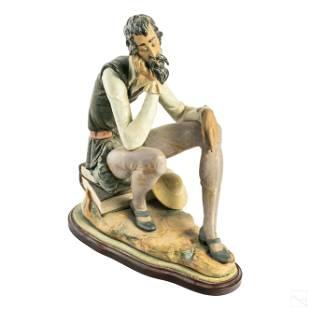 "Lladro Don Quixote Dreaming 19"" Porcelain Figurine"