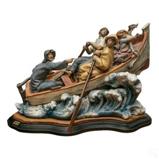 "Lladro The Rescue 16"" Porcelain Figurine Sculpture"