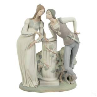 "Lladro 17"" Romeo & Juliet Figurine Sculpture AS IS"