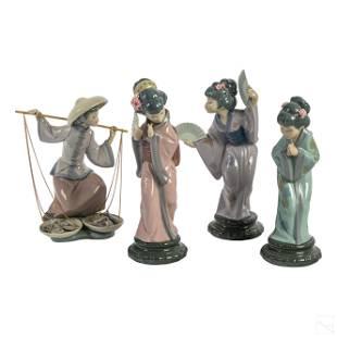 Lladro Spanish Porcelain Oriental Figurines Group