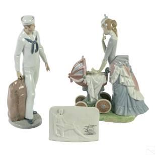 Lladro Spanish Porcelain Figurine Sculptures Group