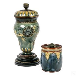 Royal Doulton Porcelain Tobacco Jar and Lamp Body