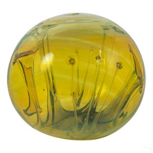 Peter Bramhall (b.1942) Modern Art Glass Sculpture