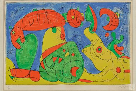 Joan Miro (1893-1983) Signed Abstract Lithograph