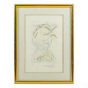 Salvador Dali Behold Thou Art Fair Etching SIGNED