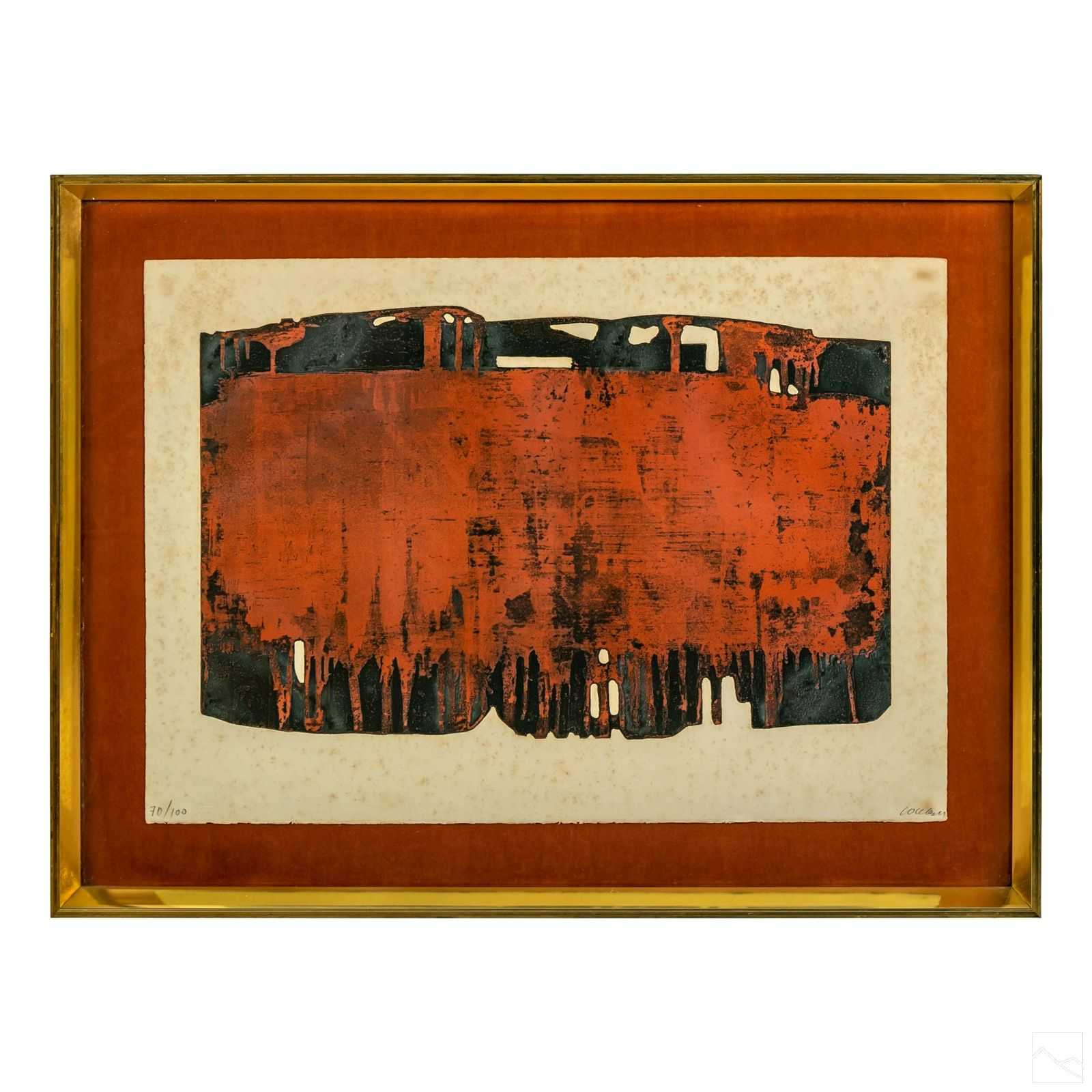 Pierre Soulages (b1919) Eau Forte Abstract Etching
