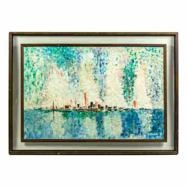 David Nemerov (1895-1963) Modern Seascape Painting