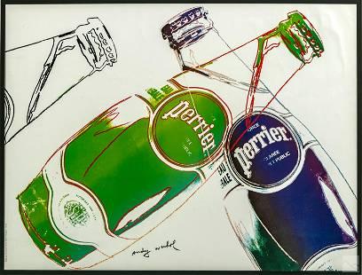 Andy Warhol Perrier Water 1983 Advertising Poster