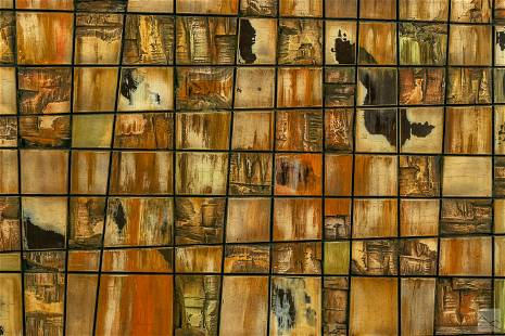 Modern 20th Century Carved Wood Abstract Painting