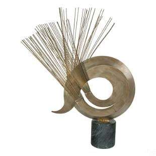 Curtis Jere Modern Kinetic Mixed Metals Sculpture