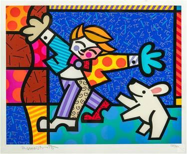 Romero Britto (b.1963) Pop Art Cubist LE Serigraph
