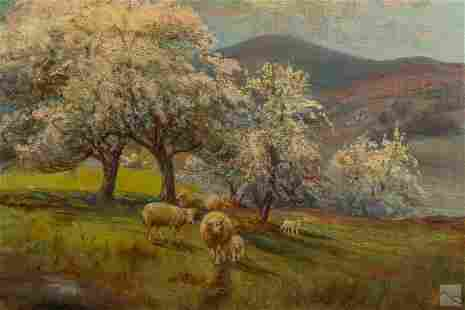 Robert Hamilton (1877-1954) Landscape Oil Painting