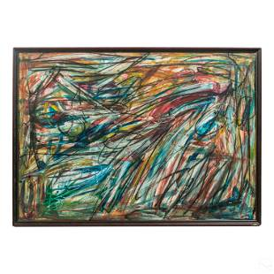 Patrick Boudon 1944-1988 Modern Abstract Painting