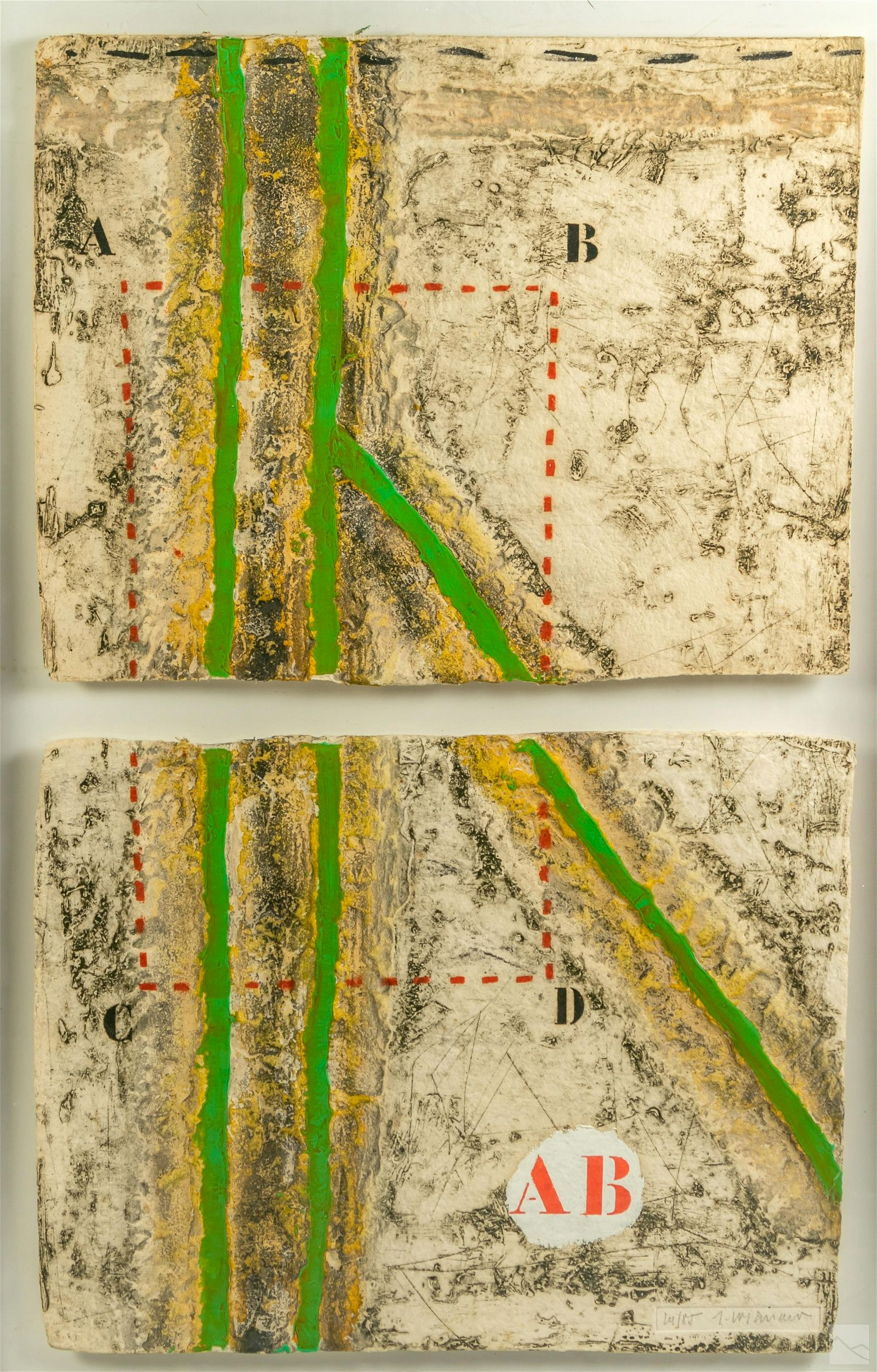 James Coignard 1925-2008 Abstract Diptych Painting