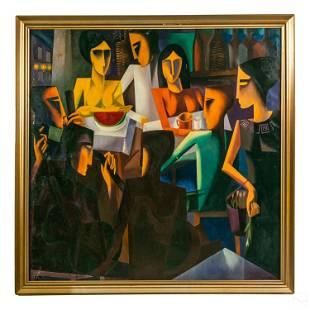 Ivan Dobroruka 1934-2001 Abstract Cubism Painting