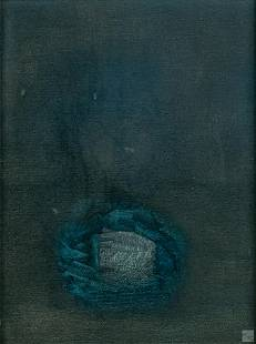 Mystery Artist 20C Signed Modern Abstract Painting