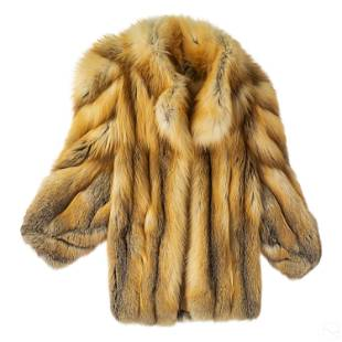 Neiman Marcus Ladies Designer Fox Fur Coat Jacket