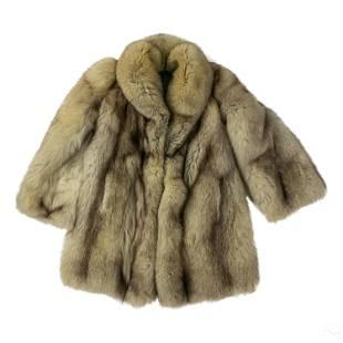 Ladies Luxurious Fine Winter White Fox Fur Coat