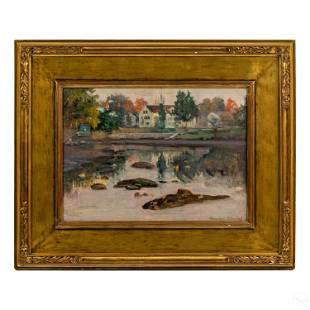 Theodore Wendel (1859-1932) Landscape Oil Painting