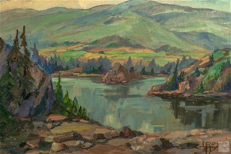 L. Royer (20thC) California Landscape Oil Painting