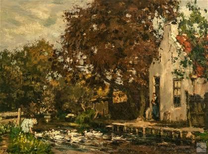 Johannes E. Akkeringa 1861-1942 Landscape Painting