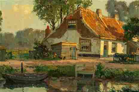 Gerardus J. Delfgaauw 1882-1947 Landscape Painting