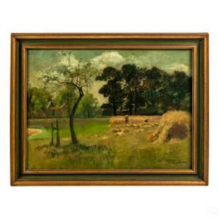 Charles Henry Miller 1842-1922 Landscape Painting