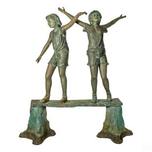Modern Bronze Children Exterior Garden Sculpture
