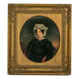 Victorian 19C. Antique Figural Still Life Painting